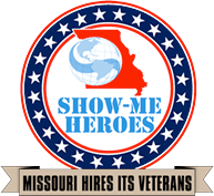 The Official Logo of Missouri's Show Me Heroes Military Veteran Hiring Program.