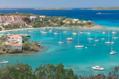 St. Thomas harbor in the US Virgin Islands.
