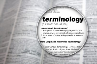 "Dictionary featuring definition of the word ""Terminology."""